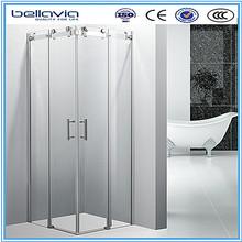 8mm tempered glass bright frame shower room sliding roller shower 6828B
