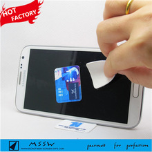 Fashional gift for promotion washable silicon gel microfiber cleaning sticker for touch screen
