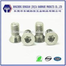 M5x10 Custom inner hexagonal inox screw with flat head