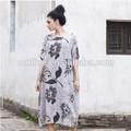 lunkuo projeto original mulher impressão floral maxi long ballet clássico vestido