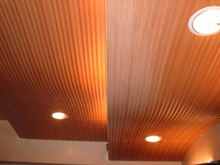 china wood square ceiling panels for indoor decoration, wpc ceiling