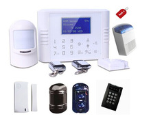 Touch panel GSM calling and SMS alert, solar powered wireless security systems with multi languages