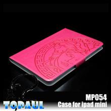 Wallet emboss pattern waterproof tablet case for ipad mini
