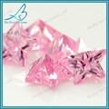 Baratos 3*3mm star corte sintético de color rosa piedras preciosas en bruto