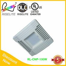 Hot sale 100 watt 4100K 9500 lumen DLC listed LED canopy light daylight white