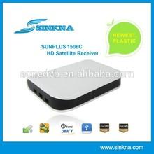 Lowest price good quality mini dvb s2 free to air satellite decoders