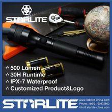 STARLITE high quality 500LM IPX-7 long range 7w 300lm led flashlight torch