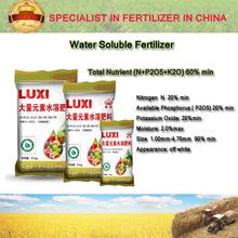 Luxi water soluble fertilizer 20-20-20+TE high quality NPK fertilizer