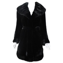 China online shopping hot sell winter mink plets fur trimmed coats