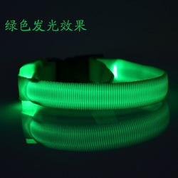 2015 high quanlity GREEN LED light pet collar