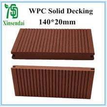 CE certificate wood plastic composite 140*20mm solid floor for sale