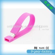 Wholesale alibaba PVC Wrist strap flash memory bulk 1gb usb flash drives