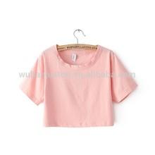 women o-neck sexy crop top, ladies short sleeve t shirt, tops tee shirts