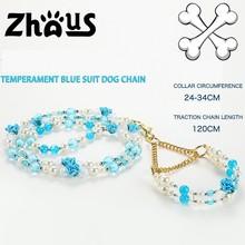 2015 Temoerament Blue Suit Pet Chain for Dogs ZQQS046