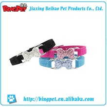 High quality flower design leather dog collar