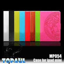 for ipad mini case,hot selling Portable leather case for ipad mini