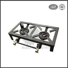 gas stove 3 burner portable cast iron gas stove