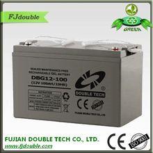 High Quality fujian double tech co ltd solar battery for ups/solar/telecom/traffic solution