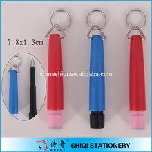 Advertising logo print carabiner mini key ring pen