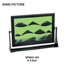 SP8001-GN Moving Sand Picture Frame for home decoration
