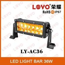 auto accessory Waterproof Rating IP67 4x4 led light amber led offroad light bar
