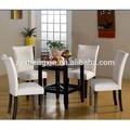 Salle à manger ensemble une table et quatre chaises haut grade blanc, manger ensembles pour la vente