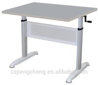 Steel Base Height Adjustment Hand Brake Office Desk /PCZ-515-C