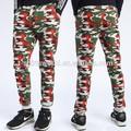 özel ucuz kırmızı kamuflaj kargo pantolon