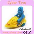 Atacado de doces do brinquedo plástico, puxe brinquedos lancha com o papai noel