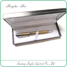 Promotion metal 1.0mm ballpoint pen with matching logo laser engraveable