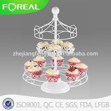 12 pcs metal powder coating wedding cake stand
