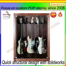 High end custom made colorful wood guitar display case