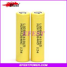 2015 newest LG LGDBHE41865 2500mah 20a 18650 rechargeable e-cig mod batter