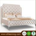 completa de cuero de tapicería de madera de la cama