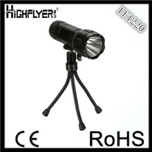 3 AA battery powered led tripod flashlight