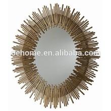 Hotel Oval metal wall mirror