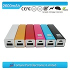 Slim cell phone power bank 2200mah ,customized box is available promotional gift