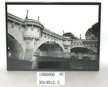 white and black morden design frameless canvas painting