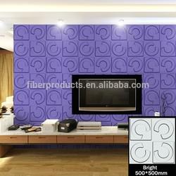 Indoor decoration embossed board 3 dimensional wallpanels