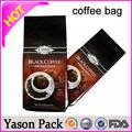 Caliente yason lateral del escudete café de papel/té mylar bolsa de ziplock bolsa de alimentos seguro a prueba de olor a café tostador bolsa de café