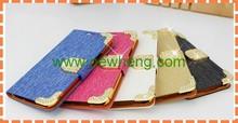 Luxury shiny rhinestone wallet leather for samsung s5