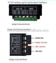 Led Dimmer 0-10V Range From 0-100%, Stable And Soft,25A*1Channel,300W,12V 24V DC, CE,EMC, LVD, RoHS
