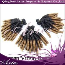 Beauty Brazilian Virgin Hair Weft Weaves Funmi Curly Hair Extensionschair weft #1b #27