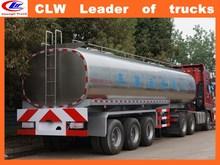 Inner Mongolia brandnew stainless steel milk tanker semi trailer tri-axles aluminum tank truck trailer for milk transportation