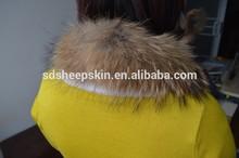 100% Genuine Real Trimming Natural Raccoon Fur For Hood