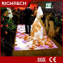 3D Interactive flooring display interactive floor projection software for wedding etc