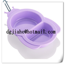Popular stylish glass lid silicone bowl lid