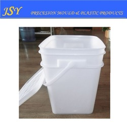high quality 20L black square plastic bucket for food white