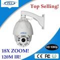 Full hd ptz cctv de la cámara 1080 p exterior de alta velocidad de la bóveda 18X de zoom de equipos de seguridad de la fcc, Ce, Rohs certificación