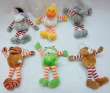Striped arms and legs plush toy animal